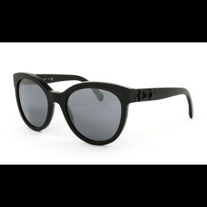Chanel mirror black sunglasses